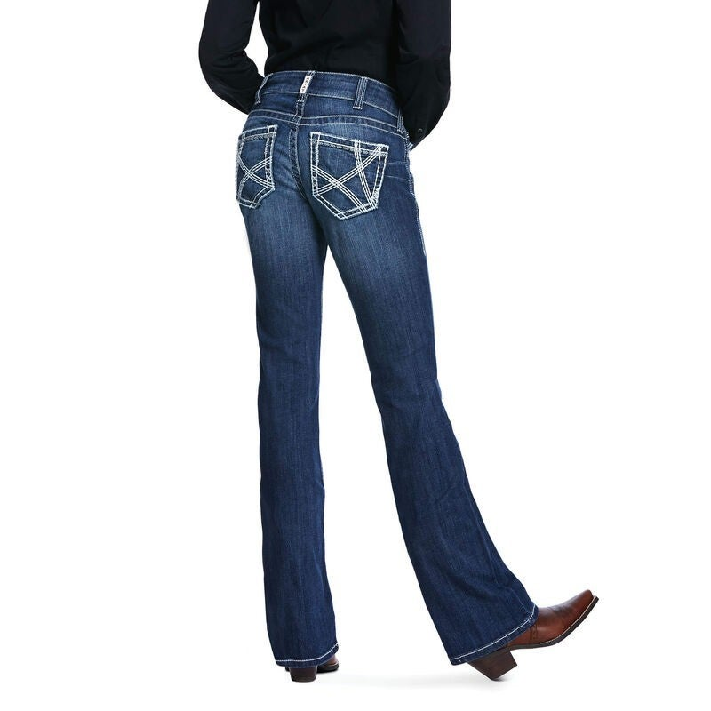 Ariat Women's Audrey R.E.A.L. Mid Rise Stretch Heirloom Boot Cut Jeans