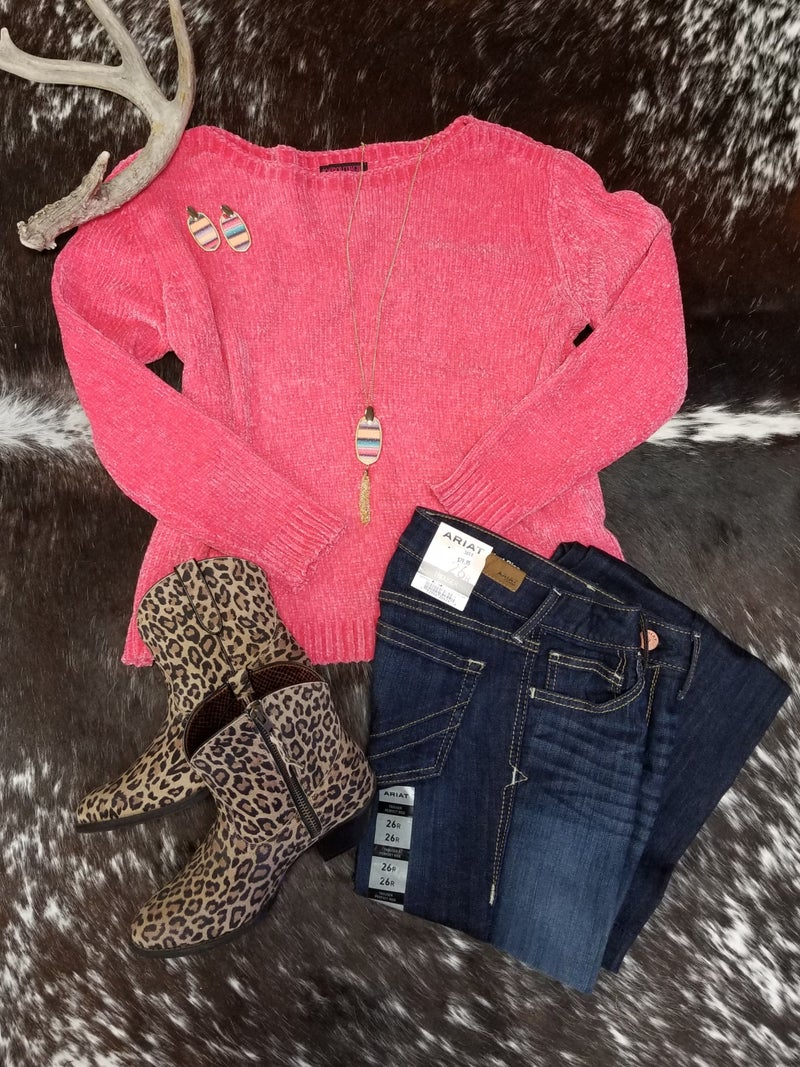 RRCG Pink Chenille Sweater