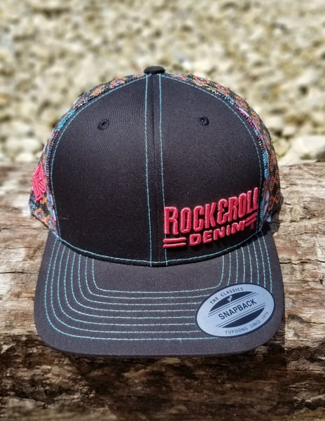 Rock & Roll Denim Multi Aztec Cap
