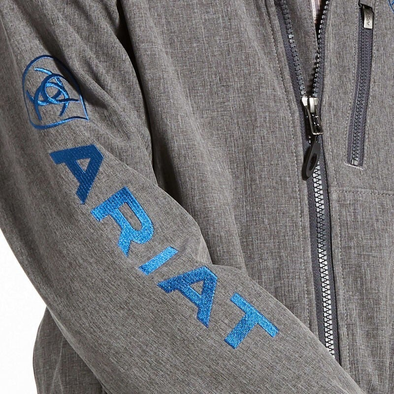 Ariat BOYS 2.0 Logo Softshell Jacket Charcoal/Blue