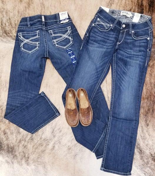 Ariat Women's Mid-Rise Straight Leg Dresden Jeans
