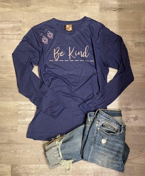 Be Kind Vintage Navy Long Sleeve