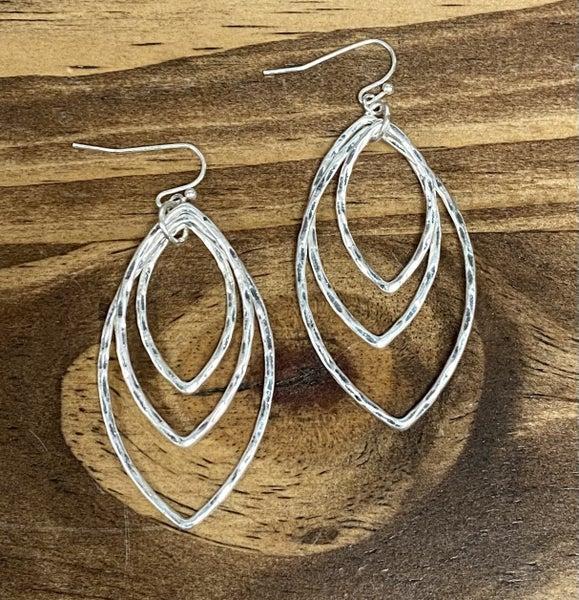 Triple Tier Leaf Earrings