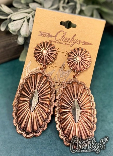 Cheeky's Cindy Bronze Concho Earrings