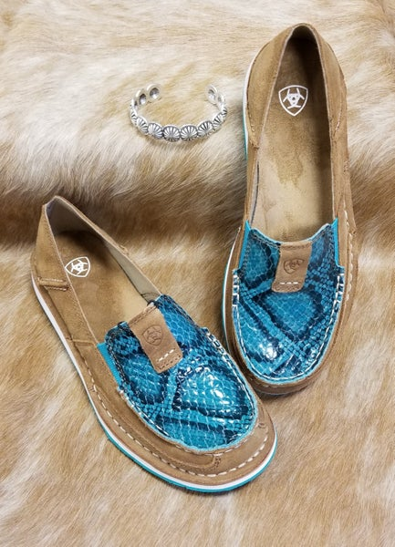 Ariat New Earth Suede Turquoise Snake Cruiser