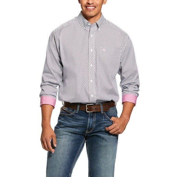 Ariat Men's Wrinkle Free Ilcott Print Classic Fit Shirt