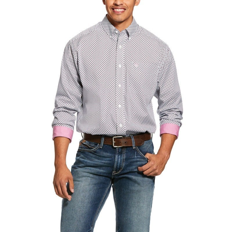 Ariat Men's Wrinkle Free Ilcott Print Classic Fit Shirt