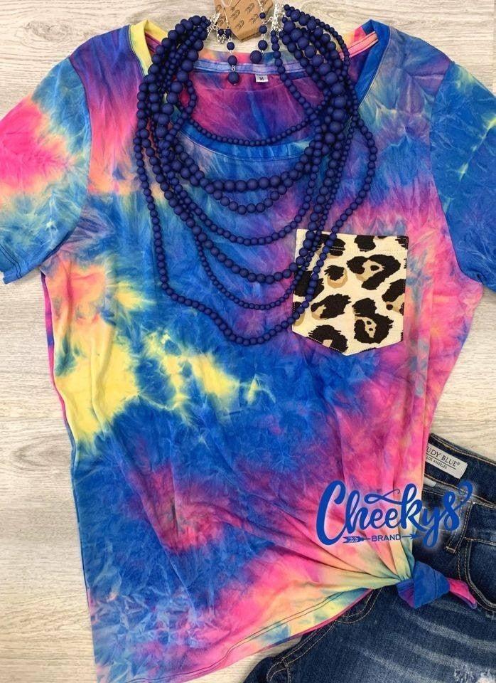 Cheeky's Tie Dye Leopard Pocket