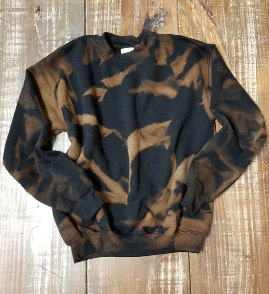 YOUTH Dynamic Black Bleached Sweatshirt