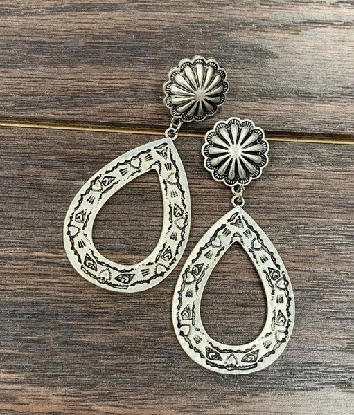 The Lufkin Aztec Concho Earrings