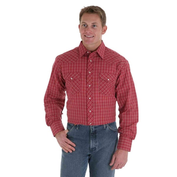 Wrangler Men's Pearl Snap Shirt BIG & TALL Assorted**