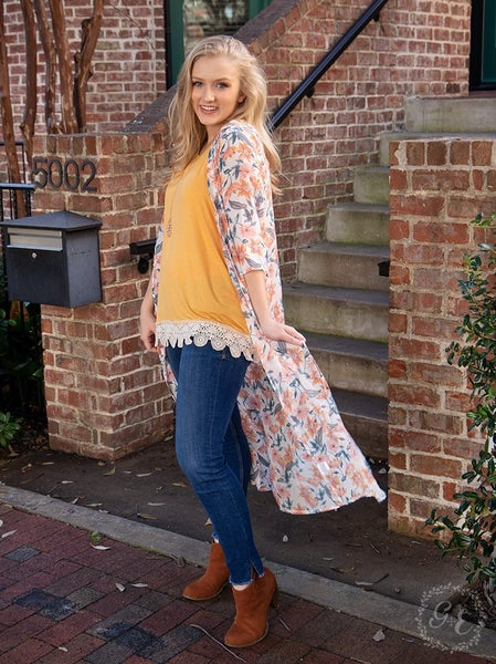 On a Whim Lightweight Floral Kimono