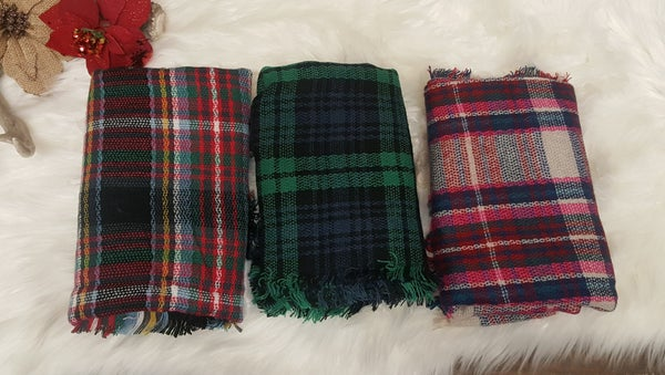 Fireside Plaid Blanket Scarf