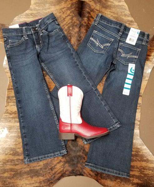 Wrangler Girls White Stitch Everyday Jeans