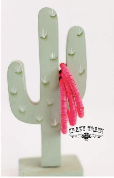 Crazy Train Pink Time Stopper Bracelet Set
