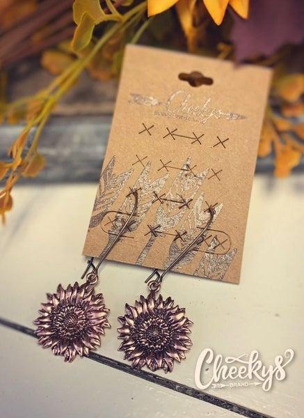 Cheeky's Follow The Sun Bronze Sunflower Earrings