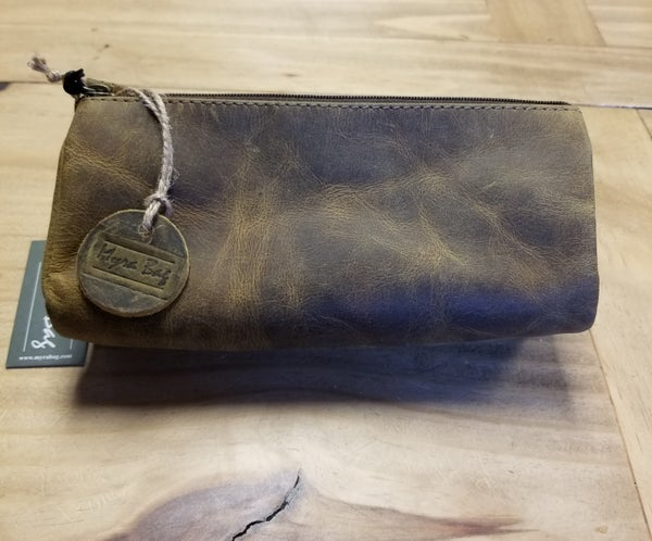 Trendy Tan Leather and Hair-On Multi Pouch