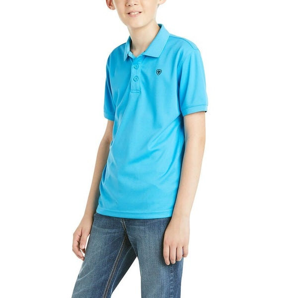 Ariat Boys Tek SS Polo Hawaiian Ocean