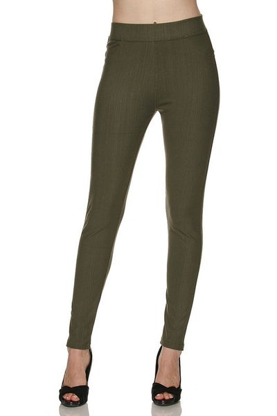 Olive One Size Hybrid Denim Jeggings