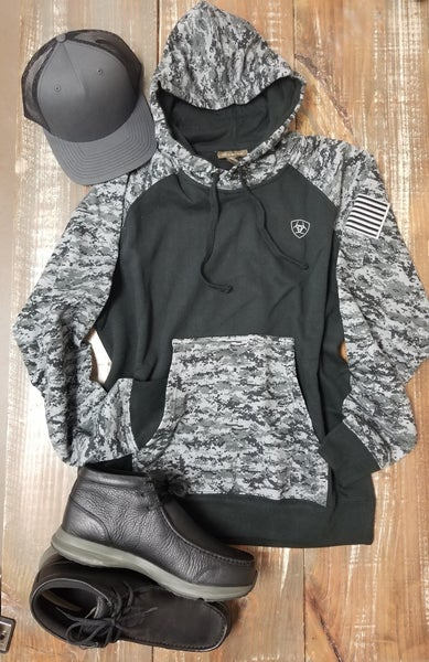 Ariat Black Digi Camo Patriot Hoodie