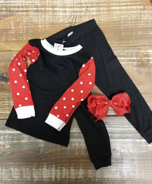 Red Polka Dot Infant/Toddler PJ Set