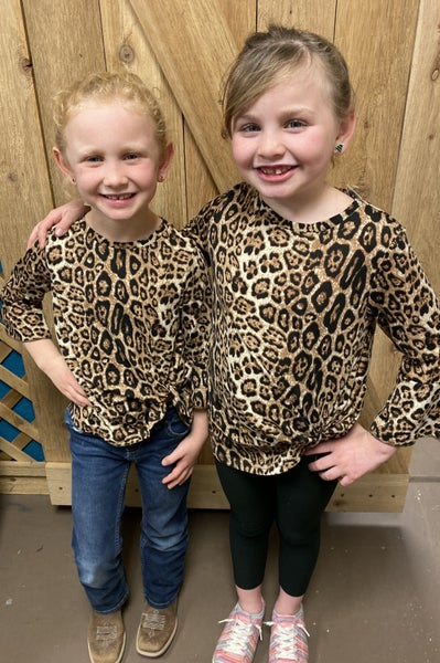 Crazy Train KIDS Knot For Long Leopard Top