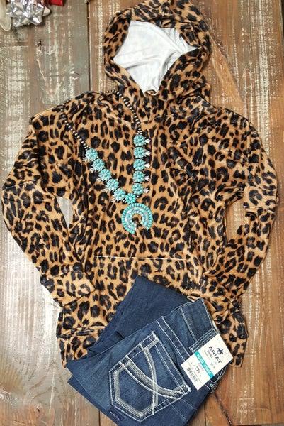 Crazy Train Velvet Leopard Hoodie
