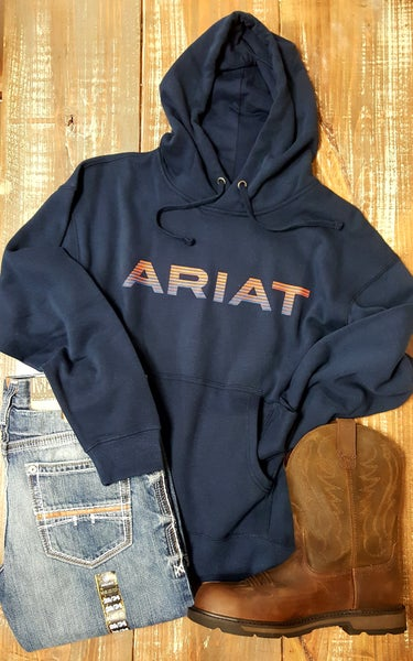 Ariat Men's Navy Graphic Hoodie