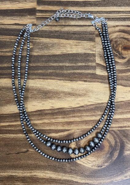 Cassoday Three Strand Navajo Pearl Necklace