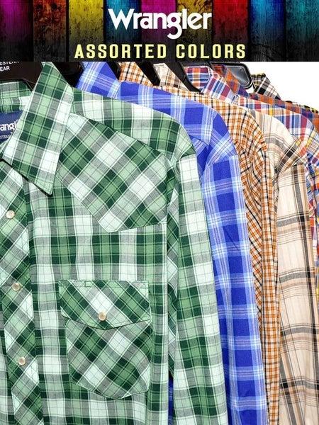 Wrangler Men's Pearl Snap Shirts Assorted**