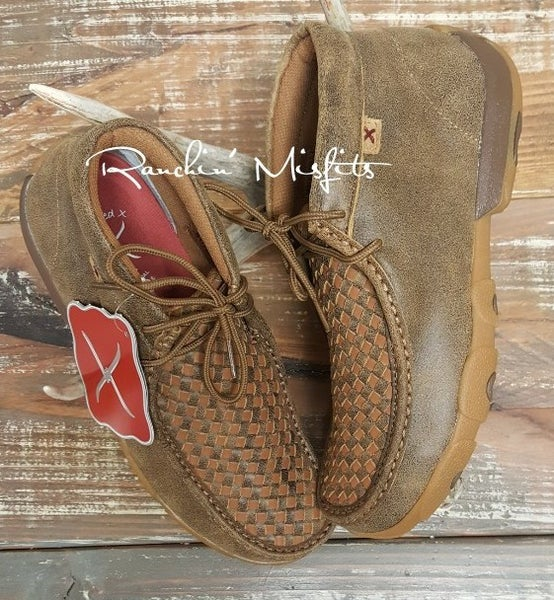 Twisted X Checkered Bomber/Tan Men's Driving Mocs