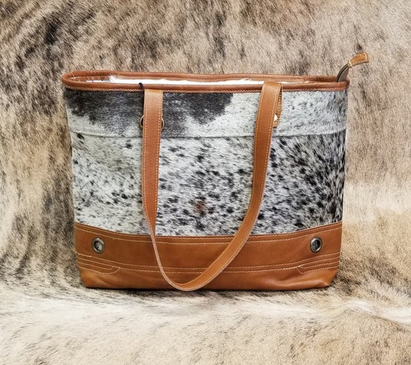 Combination Hair On Hide Tote Bag