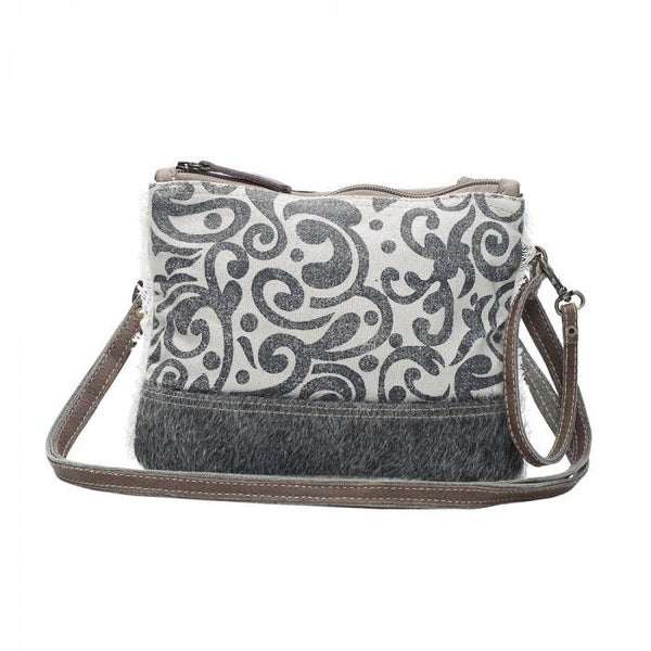 Boulder Canvas and Hair On Hide Crossbody