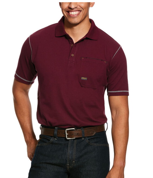 Ariat Men's Malbec Rebar Workman Short Sleeve Polo