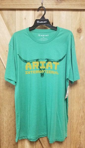 Ariat Green Longhorn Men's T-shirt