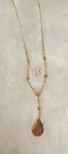 Golden Goddess Necklace and Earring Set