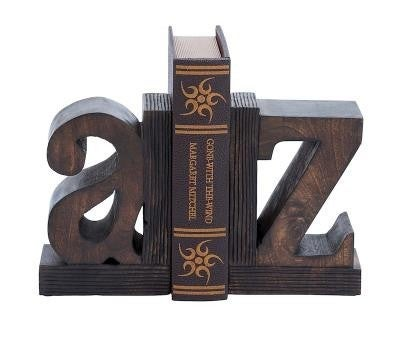 WOOD BOOK END