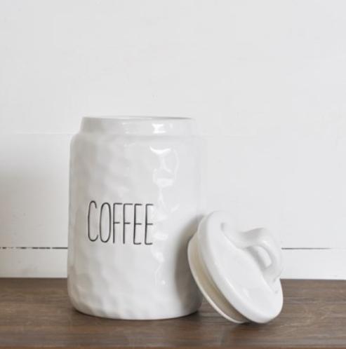 """10"""" WHITE COFFEE KEEPER"""