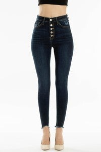 High Rise Button Fly Super Skinny Jeans