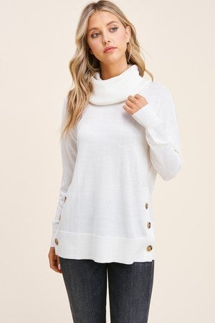 Slouchy Turtle Neck Long Sleeve