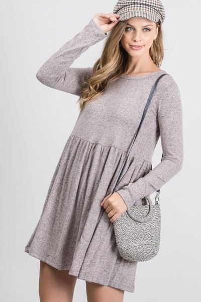 Sweater Mini Tier Dress