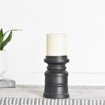 SMALL WOOD CANDLE HOLDER