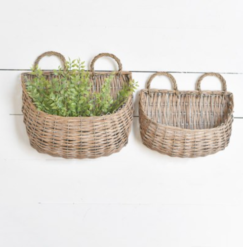SMALL WEAVE HANDLED BASKETS