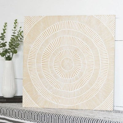 SQ. CARVED WALL ART