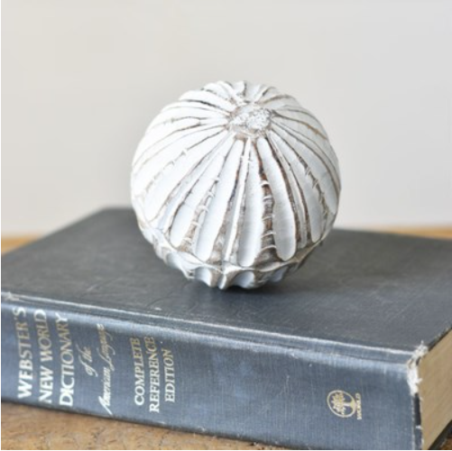 """4"""" CARVED WOODEN BALL"""