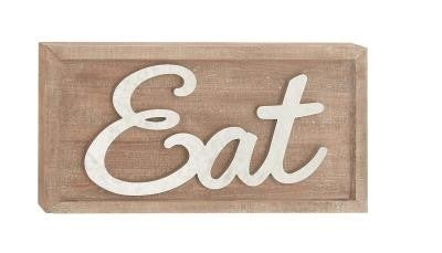WD MTL EAT WALL SIGN