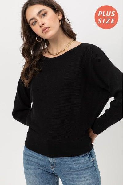Curvey Dolman Sleeve Sweater