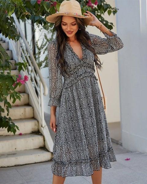 Ditsy Floral Ruffled Dress
