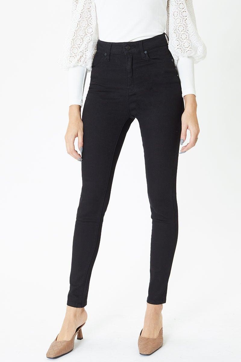 Black High Rise Super Skinny Jean