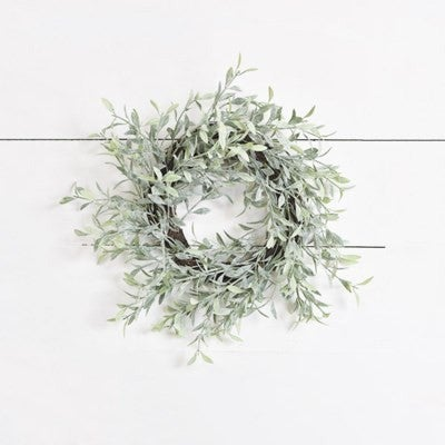 """WHISPY DUSTED WREATH 13"""""""